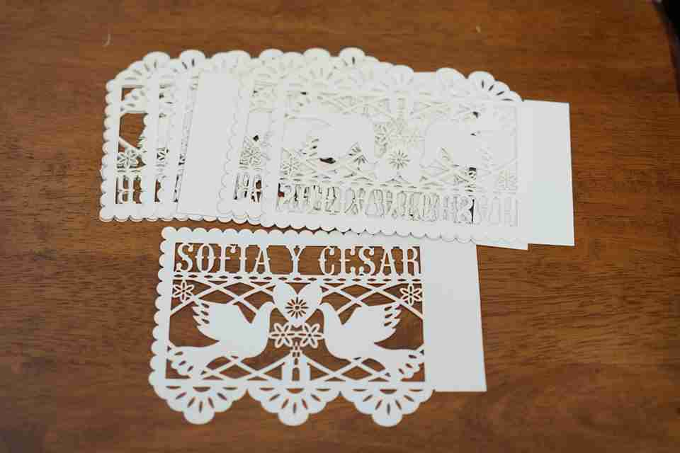papel picado wedding invitation cards – fab lab el paso, Wedding invitations