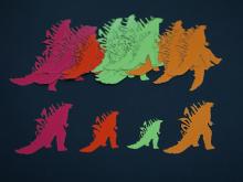 Godzilla Paper Cutouts