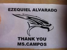 """Thank You"" Vinyl Stickers for High School Teacher"